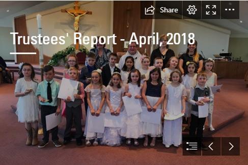 Trustees' Report – April 2018