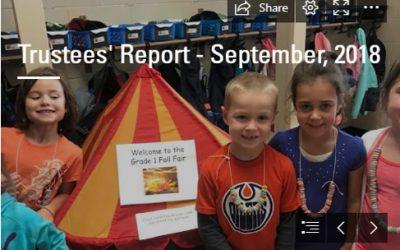 Trustees' Report – September 2018