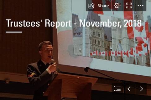 Trustees' Report – November 2018